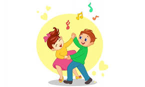 Dibujos animados de pareja de baile   Vector Premium